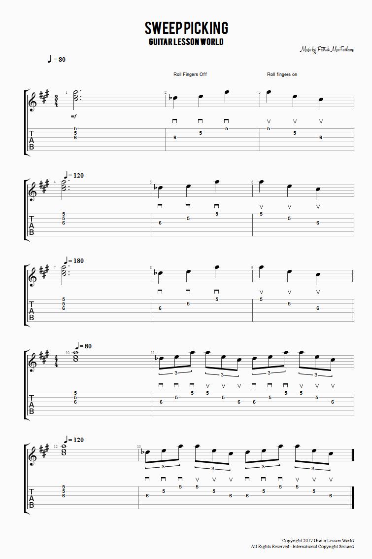 Picking Techniques Guitar Lesson World