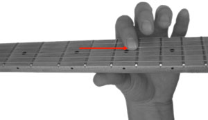 Fretting the Second Note of a Slide