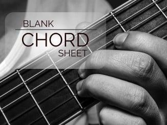 Blank Chord Sheet