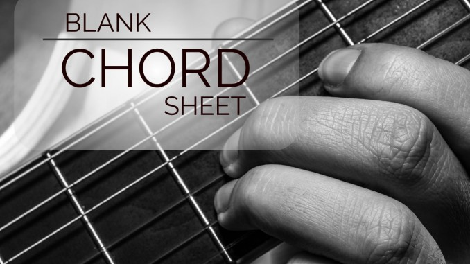 graphic relating to Printable Blank Guitar Chord Chart named Blank Guitar Chord Sheet Guitar Lesson Entire world
