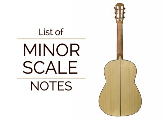 List of Minor Scale Notes