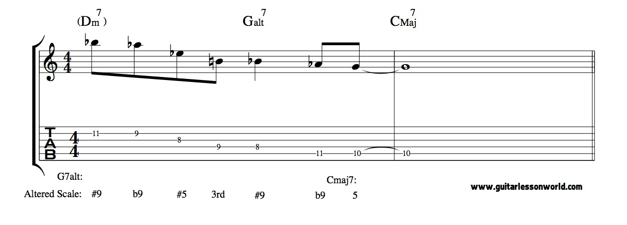 Altered Scale Jazz Lick