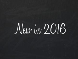 New in 2016