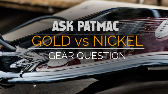 Gold vs Nickel Guitar Cables