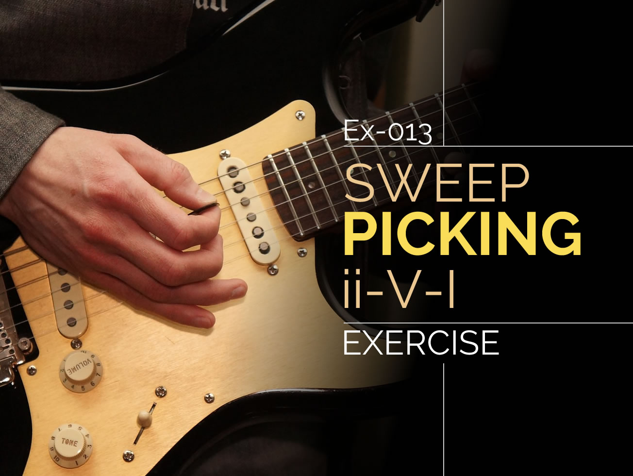 Soloing Over Chord Progressions Guitar Lesson World Besides Bass String Names On Ukulele Diagram Ex 013 Sweep Picking Ii V I