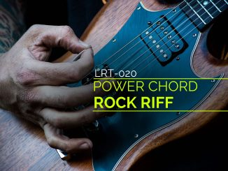 Learn a fun rock riff using power chords.