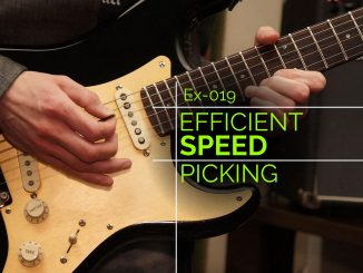Practice economy picking and sweep picking for speed